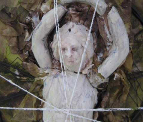 Bound For Decay detail, mixed media art, altered art