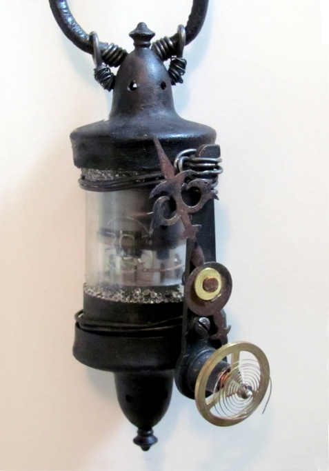 found object, 1,000 steampunk inspirations, steampunk, time travel, clockworks, assemblage, epoxy clay